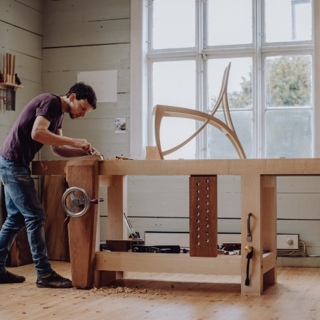 Workshop life, chair making